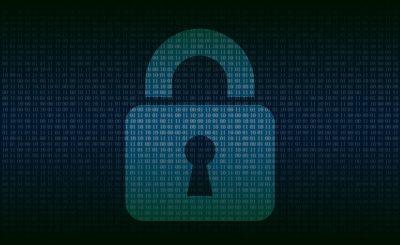 cadenas sur un fond de code binaire